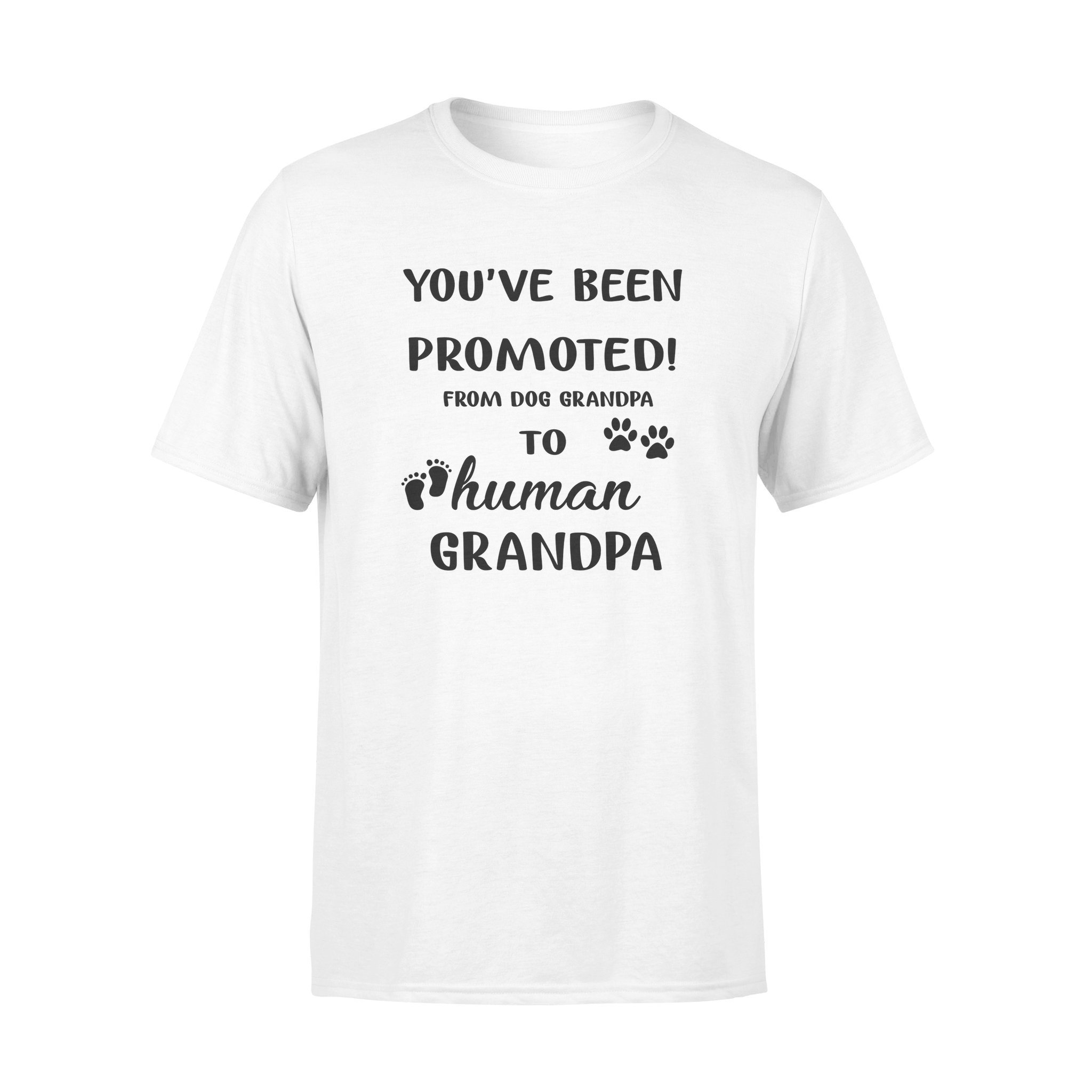 Promoted grandpa shirt - gifts for dog lovers - Standard T-shirt