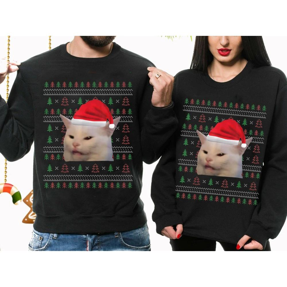 This is woman yelling at a smudge cat ugly christmas sweater meme sweatshirt, woman yelling at a cat meme shirt,ugly christmas sweater,christmas shirts,women yelling at cat,women yelling at cat meme , GST