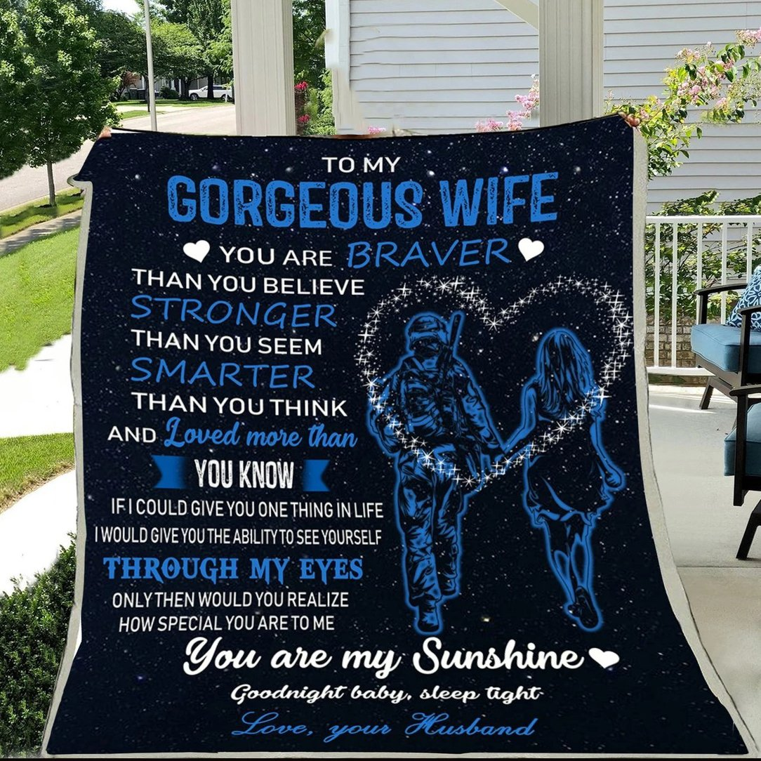 G-Soldier blanket - Husband to wife - You are braver