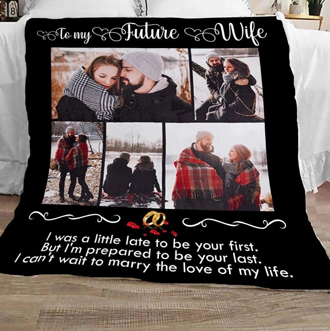Personalized I can't wait to marry the love of my life blanket Gifts for wife