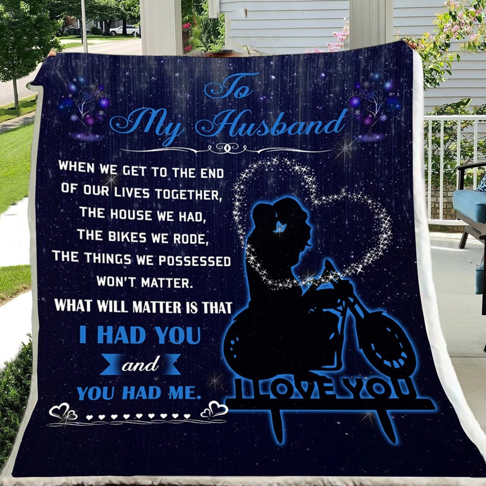 G- Biker blanket - to my husband - When I get to