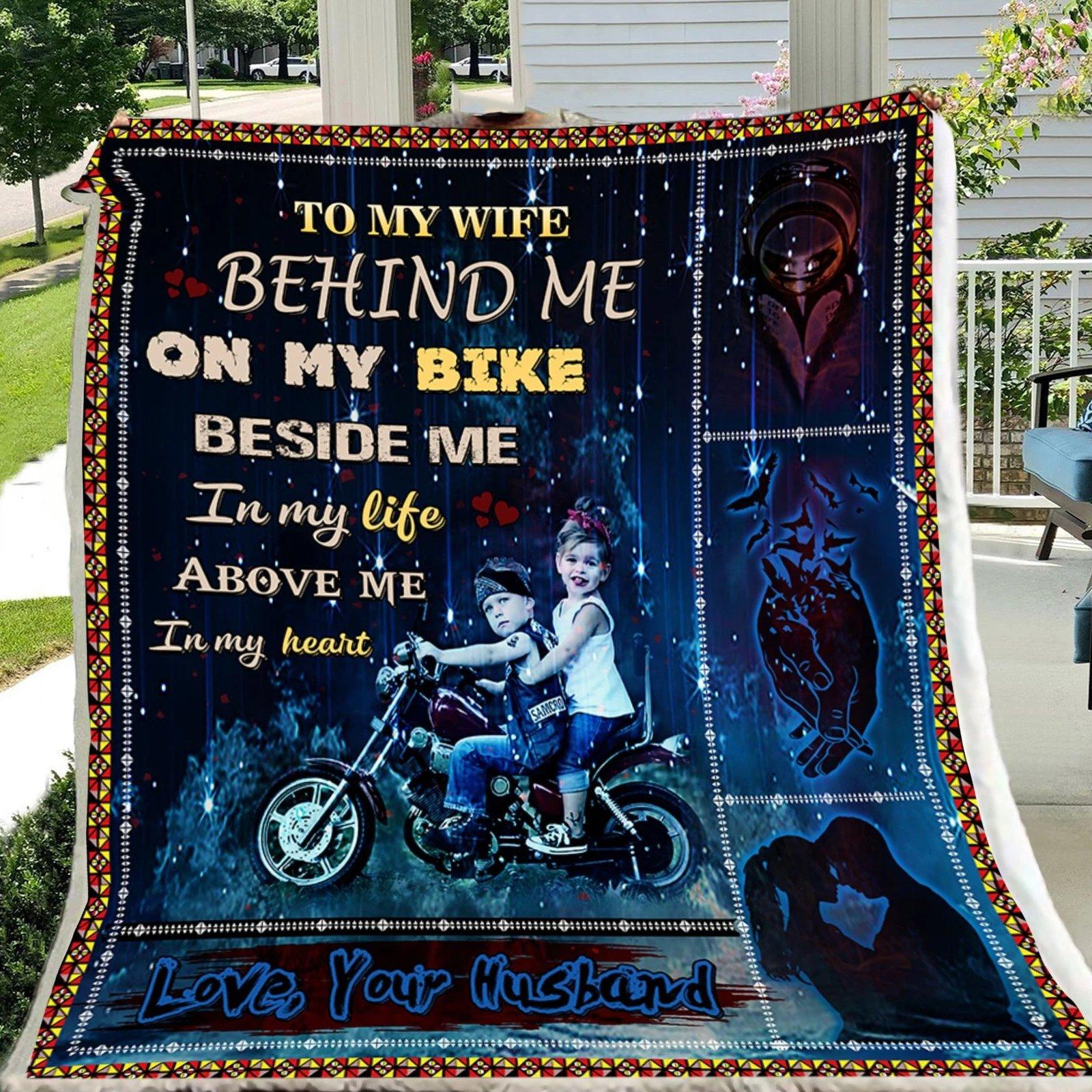 G- Biker blanket - Husband to Wife - Behind me on my bike