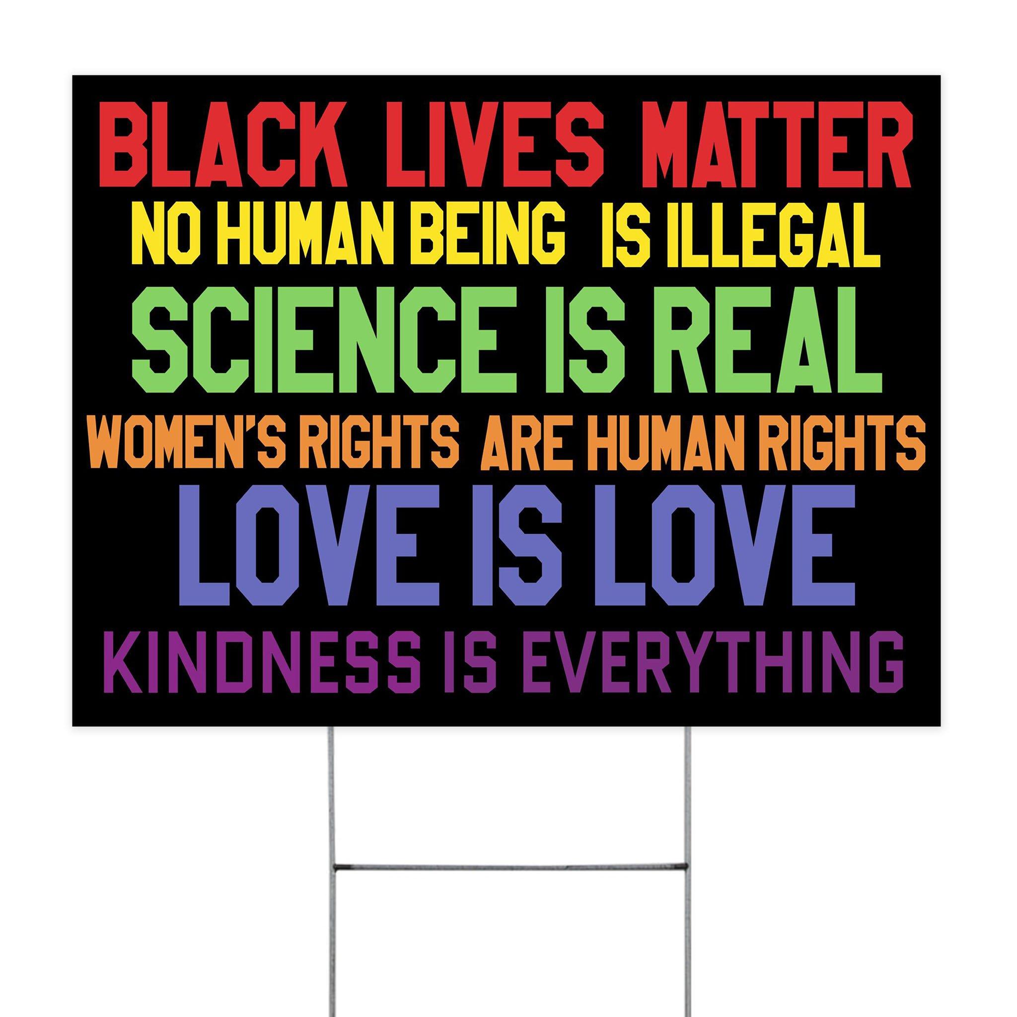 Science Is Real Black Lives Matter Yard Sign