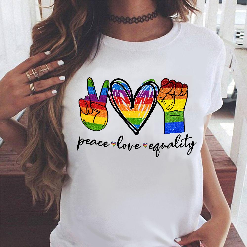 Peace love equality LGBT black lives matter  hippie shirt Gsge - Standard T-shirt