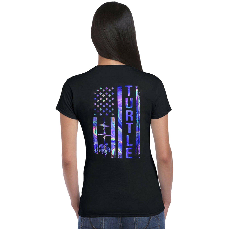 Turtle Galaxy American Flag Shirt - Turle Shirt