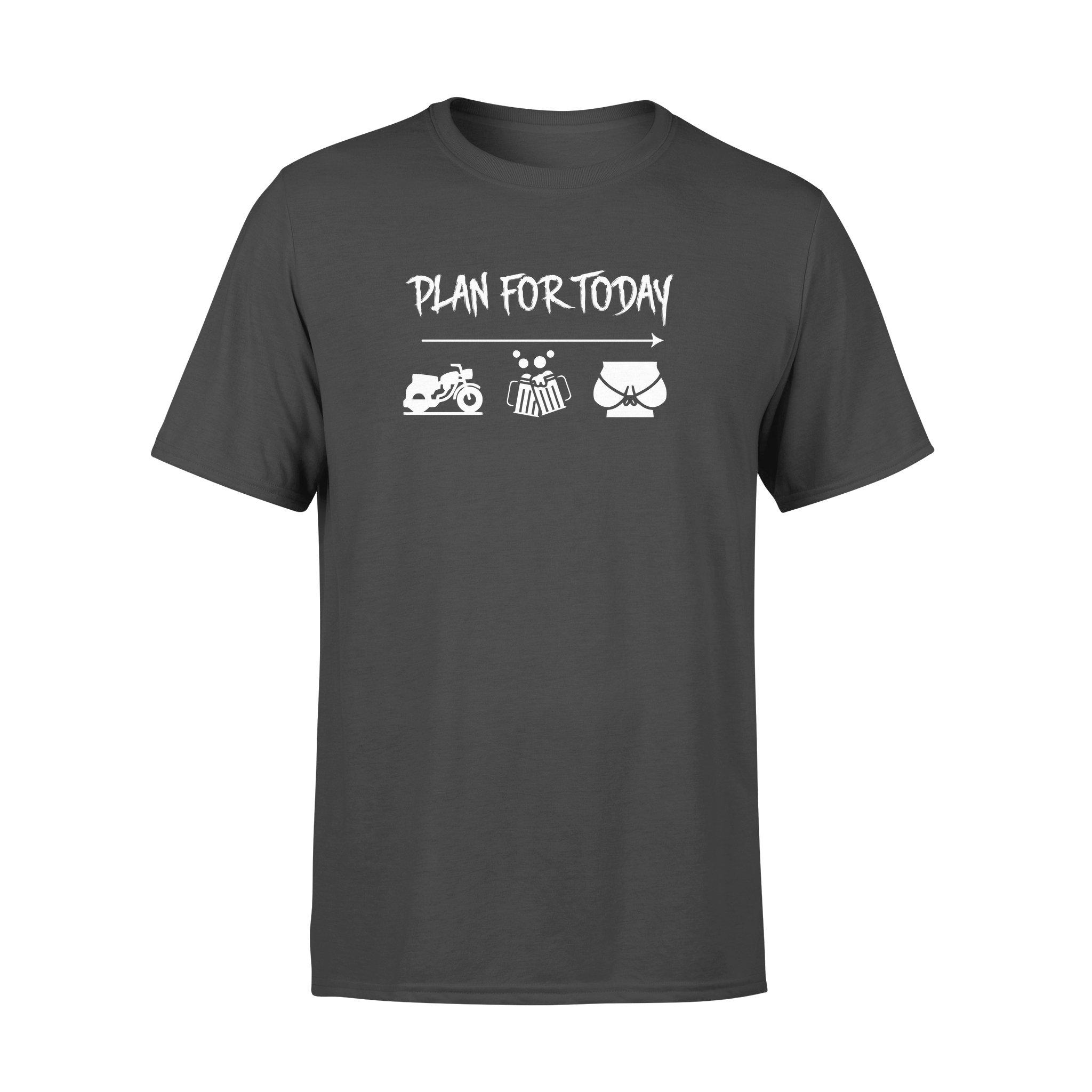 Plan For Today Bike Beer Boobs Shirt - Biker Shirt